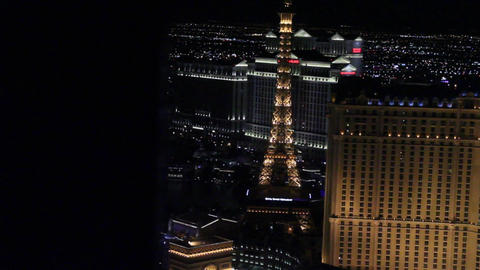 dolly shot penthouse view evening - paris and caes Footage
