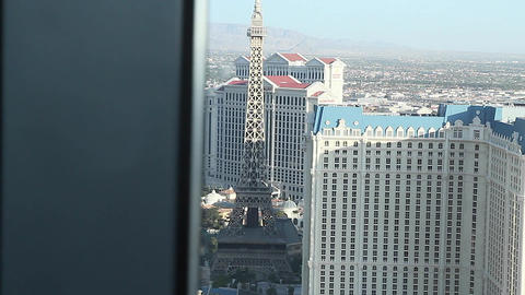 dolly shot penthouse view day - paris and caesar Stock Video Footage