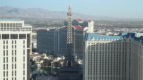 dolly shot penthouse view day - paris and caesar Footage