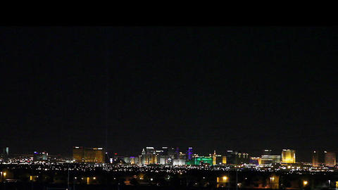wide aerial view of the las vegas strip at night Footage