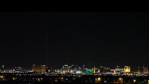 wide aerial view of the las vegas strip at night Stock Video Footage