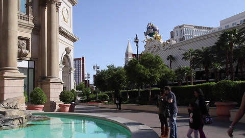 caesar hotel - people taking pictures of statues Footage