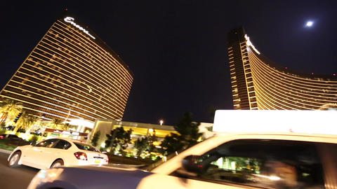 evening drive on las vegas trip outside encore and Footage