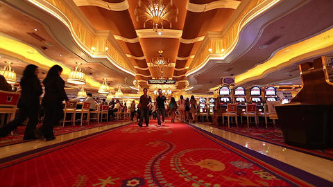 people walking inside the wynn casino hotel red ca Footage
