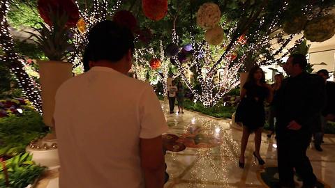 people walking through wynn hotel Footage