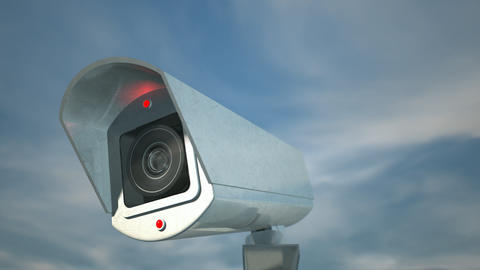 surveillance camera day front pan Animation