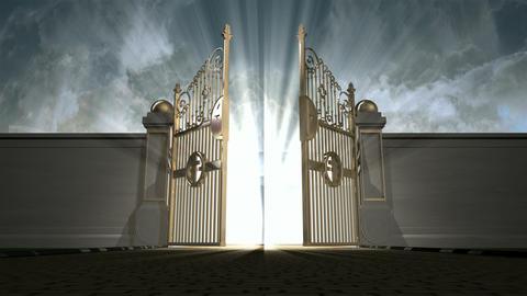 heavens gates opening static new Animation