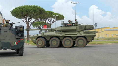 Italian Army. Military Exercise Stock Video Footage
