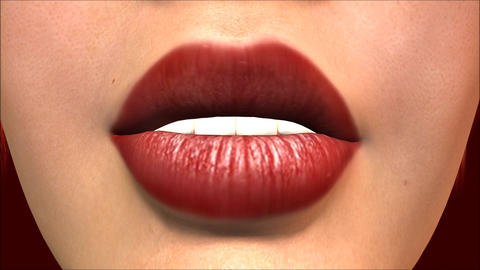 Kissing Lips Animation Stock Video Footage