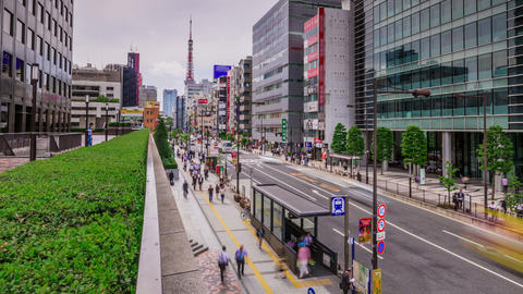 Tokyo Street Moving Time Lapse Stock Video Footage