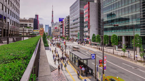 Tokyo Street Moving Time Lapse Footage
