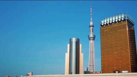 Tokyo Sky Tree, the tallest tower in the world Stock Video Footage