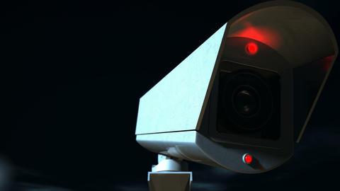 surveillance camera front zoom back Animation