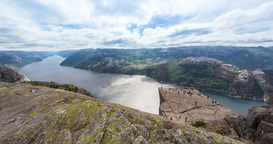 4K Landscape Timelapse, Preikestolen, Norway Stock Video Footage