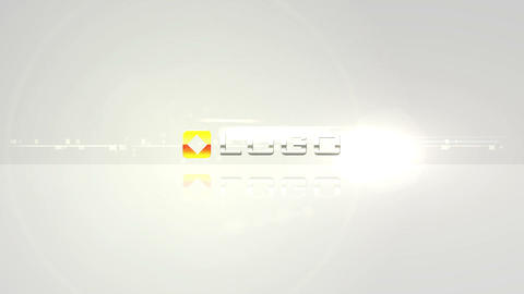 Business Logo Light Build from Pieces Animation After Effects Template