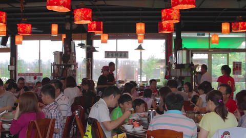 popular Rueisuei restaurant with beautiful lantern Stock Video Footage