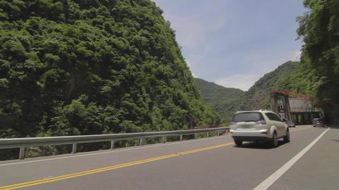 cars drive by Cimu Bridge(Motherly Devotion Bridge Footage