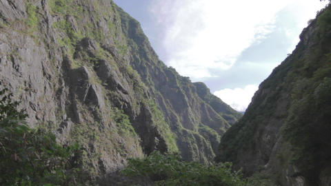 Taroko Gorge - Mountains On Clear Sunny Day stock footage