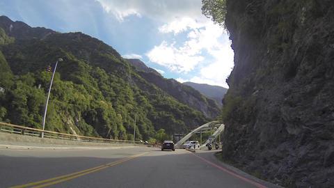 Taroko video tour drive - to Tianxiang Stock Video Footage