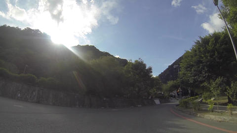 Taroko video tour drive - to Tianxiang Stock Video Footage