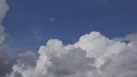 White Cumulus Clouds Time Lapse 4K Footage