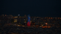 Torre Agbar in Barcelona Stock Video Footage