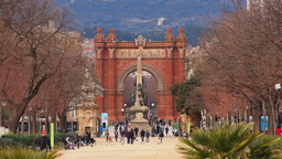 Arc de Triomf in Barcelona Stock Video Footage