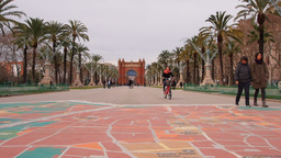 Arc De Triomf In Barcelona stock footage