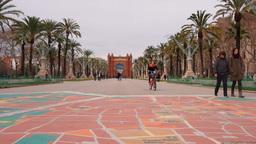 Arc de Triomf in Barcelona Footage