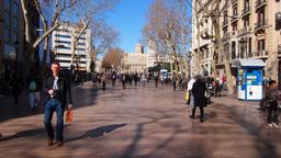 La Rambla in Barcelona Stock Video Footage