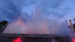 Magic Fountains in Barcelona Stock Video Footage