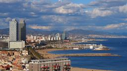 Barceloneta Beach in Barcelona Stock Video Footage