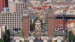 Placa Espanya in Barcelona Stock Video Footage