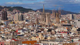 Cityscape of Barcelona Stock Video Footage