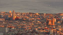 Sunset in Barcelona Stock Video Footage