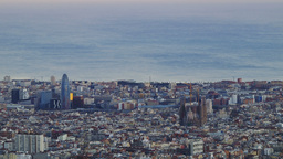 Sunset In Barcelona stock footage