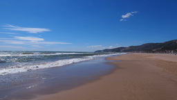 Beach in Castelldefels Stock Video Footage