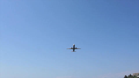 Passenger Plane stock footage