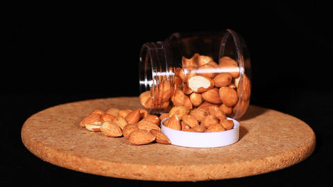 Almonds stock footage