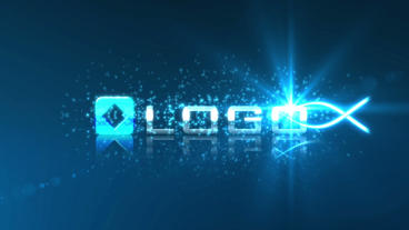 Glow Light Streak Logo Reveal stock footage