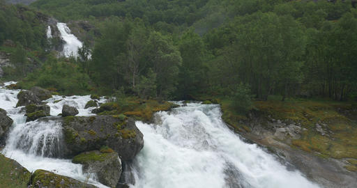4K, Norway, Epic and beautiful waterfall Filmmaterial