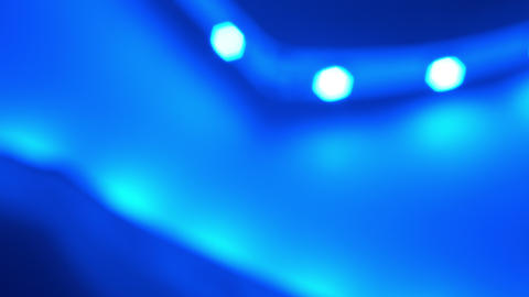 Abstract defocused blue lights background 4K Stock Video Footage
