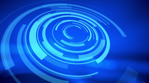 Hologram HUD Blue Abstract Background stock footage