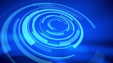 Hologram HUD blue abstract background Animation