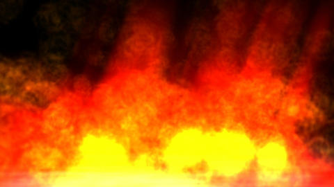 Animation of a Hell Fire Stock Video Footage