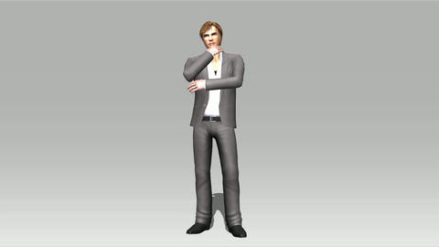 Animation of a posing Man Animation