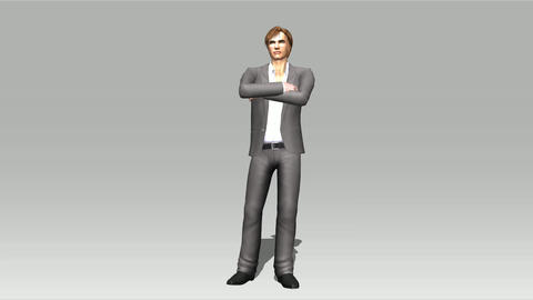 Animation of a posing Man Stock Video Footage