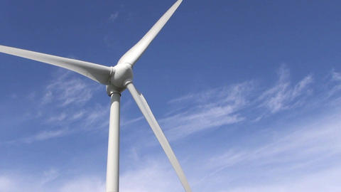 wind power farm producing energy in the environmen Footage