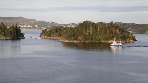 Norwegian Fjord. Boknafjord stock footage