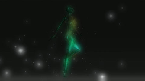 Animation of a mystic Female Stock Video Footage